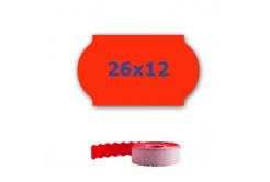Cenové etikety do kleští, 26mm x 12mm, 900ks, signální červené
