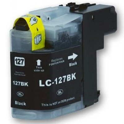 Brother LC-127XL black compatible inkjet cartridge