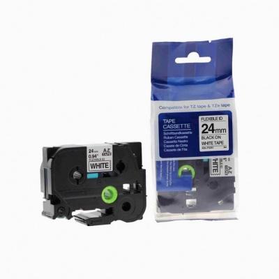 Brother TZ-FX251/TZe-FX251, 24mm x 8m, flexi, black / white, compatible tape
