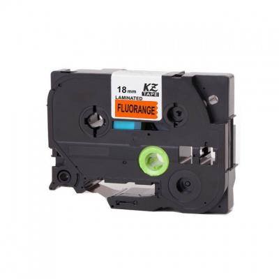 Brother TZ-B41/TZe-B41, signální 18mm x 8m, black / orange, compatible tape