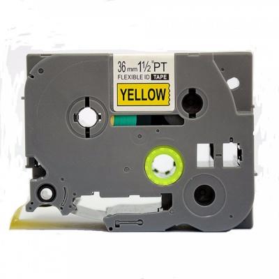 Brother TZ-FX661/TZe-FX661 36mm x 8m, flexi, black / yellow, compatible tape