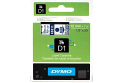 Dymo D1 45011, S0720510, 12mm x 7m blue text / clear tape, original tape