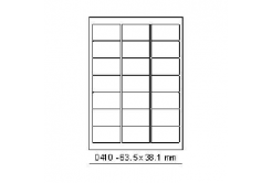 Selfadhesive labels 63,5 x 38,1 mm, 21 labels, A4, 100 sheets