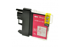 Brother LC-980/LC-985/LC-1100 magenta compatible inkjet cartridge