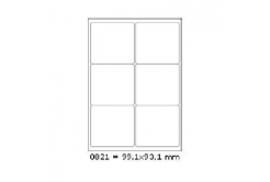 Selfadhesive labels 99,1 x 93,1 mm, 6 labels, A4, 100 sheets