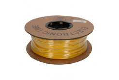 Popisovací smršťovací bužírka 2:1, bezhalog., samozháš., průměr 2,4/1,2mm, UL, žlutá, plochá, 50m