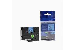Brother TZ-541 / TZe-541, 18mm x 8m, black / blue, compatible tape