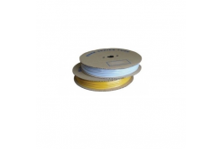 Popisovací hvězdicová PVC bužírka H-60, vnitřní průměr 5,0mm / průřez 6mm2, bílá, 50m