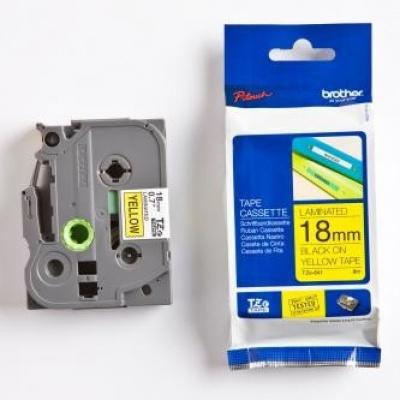 Brother TZ-641 / TZe-641, 18mm x 8m, black text / yellow tape, original tape