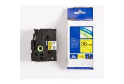 Brother TZ-661 / TZe-661, 36mm x 8m, black text / yellow tape, original tape
