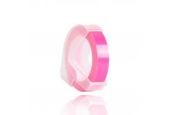 Dymo Omega, 9mm x 3m, white / fluorescent pink