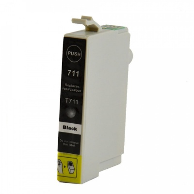 Epson T0711 black compatible inkjet cartridge