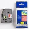 Brother TZ-451 / TZe-451, 24mm x 8m, black text / red tape, original tape