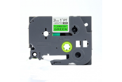 Brother TZ-D51/TZe-D51, signální 24mm x 8m, black / green, compatible tape