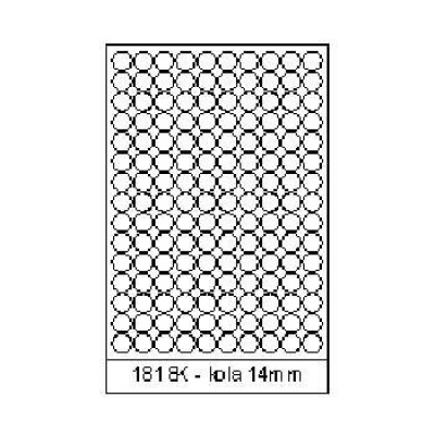 Selfadhesive labels 18 x 18 mm, 150 labels, A4, 100 sheets