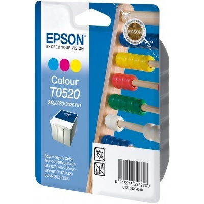 Epson C13T052040 color original ink cartridge