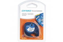 Dymo LetraTag 59422, S0721560, 12mm x 4m, black text/white tape, original tape