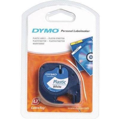 Dymo LetraTag 59422, S0721560, 12mm x 4m, black text/white tape, original tape
