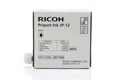 Ricoh original ink cartridge JP 12, black, 600ml, 817104, Ricoh DX3240, 3440, JP1210, 1215, 1250, 1255, 3000