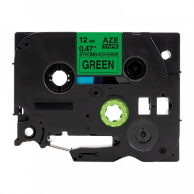 Brother TZ-S731/TZe-S731,12mm x8m extr.adh. black / green, compatible tape