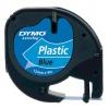 Dymo LetraTag S0721650 12mm x 4m black text/blue tape original tape