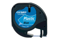 Dymo LetraTag S0721650 12mm x 4m black text/blue tape original tape