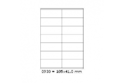 Selfadhesive labels 105 x 41 mm, 14 labels, A4, 100 sheets