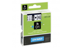 Dymo D1 40913, S0720680, 9 mm x 7 m, black text/white tape, original tape