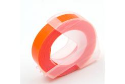 Dymo Omega, 9mm x 3m, white / fluorescent orange