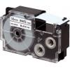 Casio XR-18X1, 18mm x 8m, black text/clear tape, original tape