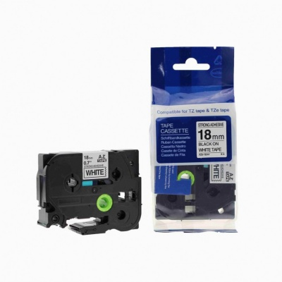 Brother TZ-S241/TZe-S241 18mm x 8m extr.adh. black / white, compatible tape