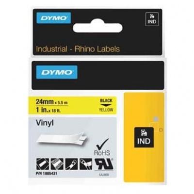 Dymo Rhino 1805431, 24mm x 5,5m, black text/yellow tape, original tape