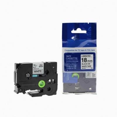 Brother TZ-241 / TZe-241, 18mm x 8m, black / white, compatible tape