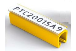 Partex PTC40015A4, yellow, 100 pcs (5-6,2mm), PTC nacvakávací pouzdro na štítky