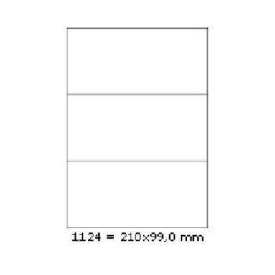 Selfadhesive labels 210 x 99 mm, 3 labels, A4, 100 sheets