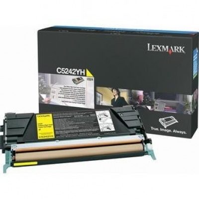 Lexmark C5242YH yellow original toner
