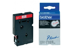 Brother TC-292, 9mm x 7,7m, red text / white tape, original tape