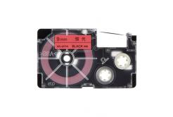 Casio XR-9FPK , 9mm x 8m, černý tisk / signální růžový podklad, kompatibilní páska