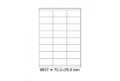 Selfadhesive labels 70 x 35 mm, 24 labels, A4, 100 sheets