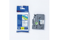 Brother original tape do tiskárny štítků, Brother, TZE-MQ531, black text/blue tape, 4m, 12mm, pastelový podklad