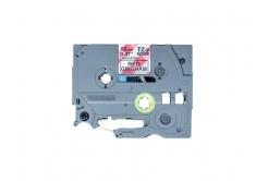 Brother original tape do tiskárny štítků, Brother, TZE-MPRG31, black text/white tape, 4m, 12mm, červený vzor gingham