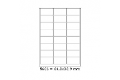 Selfadhesive labels 64 x 33,9 mm, 24 labels, A4, 100 sheets