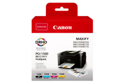 Canon original ink cartridge PGI-1500 BK/C/M/Y Multipack, CMYK, 400/3*300 pages, 9218B005, Canon MAXIFY MB2050,MB2150,MB2155,MB2350,MB2750,M