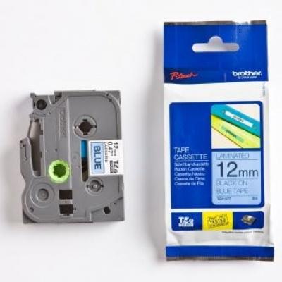 Brother TZ-531 / TZe-531, 12mm x 8m, black text / blue tape, original tape