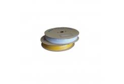 Popisovací hvězdicová PVC bužírka H-25, vnitřní průměr 4,0mm / průřez 2,5mm2, bílá, 80m