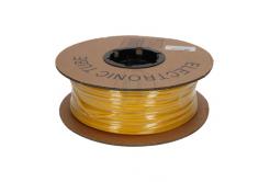 Popisovací smršťovací bužírka 2:1, bezhalog., samozháš., průměr 2,4/1,2mm, UL, žlutá, plochá, 30m