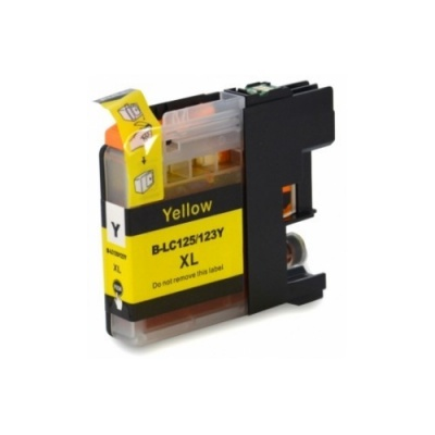 Brother LC-125XL/LC-127XL yellow compatible inkjet cartridge
