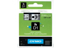 Dymo D1 40910, S0720670, 9mm x 7m, black text / clear tape, original tape