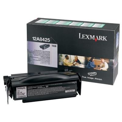 Lexmark 12A8425 black original toner