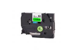 Brother TZ-D41/TZe-D41, signální 18mm x 8m, black / green, compatible tape